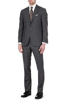 CORNELIANI Pinstripe single-breasted wool and silk-blend suit