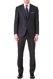 CORNELIANI Single breasted notch flannel suit