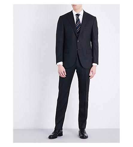 CORNELIANI Slim-fit wool suit (Char