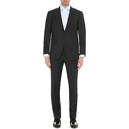 CORNELIANI Single-breasted tapered wool suit (Black