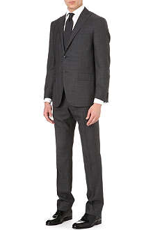 CORNELIANI Checked wool-blend suit