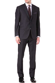 CORNELIANI Herringbone stripe single-breasted suit