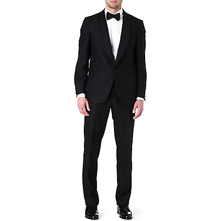 CORNELIANI Evening shawl satin suit (Black