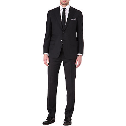 CORNELIANI Single-breasted wool suit (Charcoal