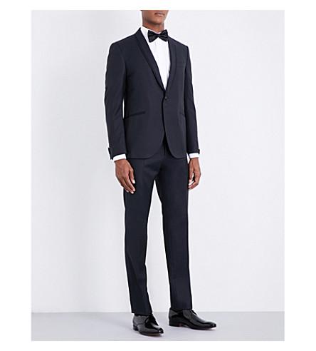 CORNELIANI Basketweave-patterned regular-fit wool tuxedo (Midnight