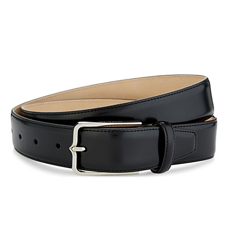 CORNELIANI Leather belt (Black