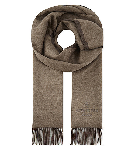 CORNELIANI Silk scarf (Brown