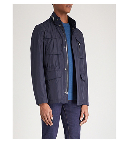 CORNELIANI Zip-away hood shell jacket (Navy