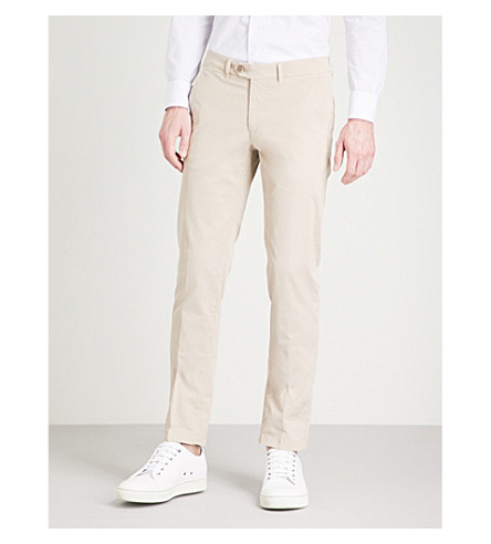 CORNELIANI Regular-fit stretch-cotton chinos (Beige