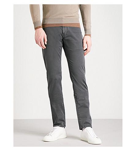 CORNELIANI Regular-fit stretch-cotton chinos (Black