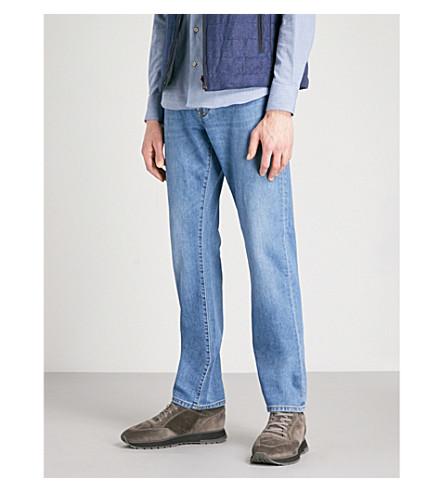 CORNELIANI Regular-fit straight jeans (Light+wash