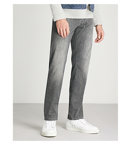 CORNELIANI Regular-fit straight jeans (Grey