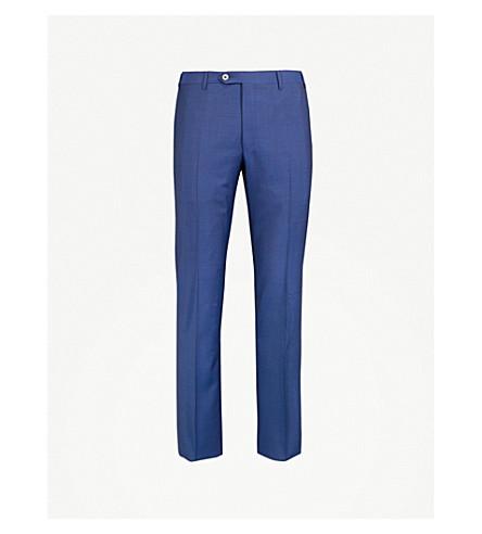 CORNELIANI Leader-fit straight wool trousers (Blue