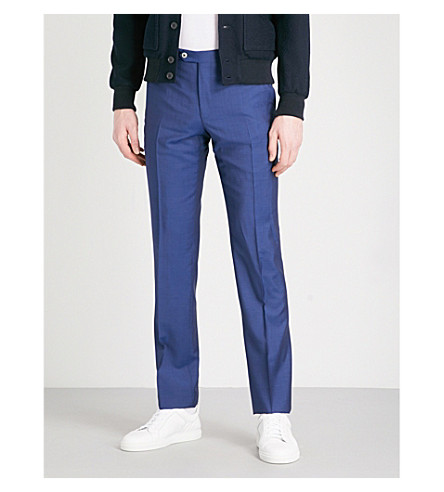 CORNELIANI Leader-fit straight wool trousers (Blue