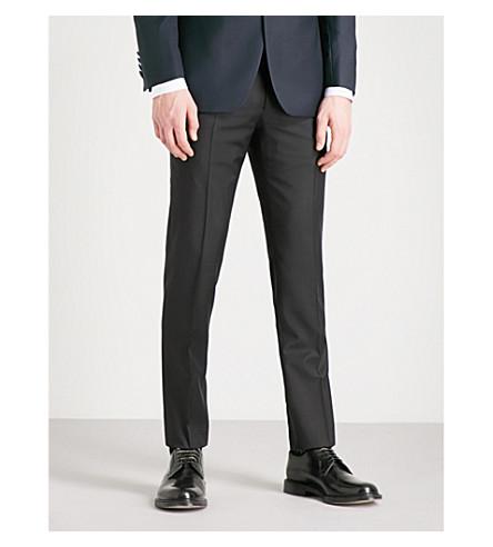 CORNELIANI Academy-fit straight wool trousers (Black