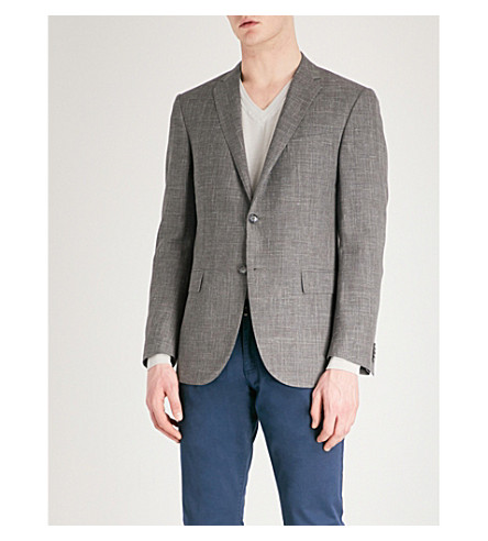 CORNELIANI Academy-fit wool-blend jacket (Brown
