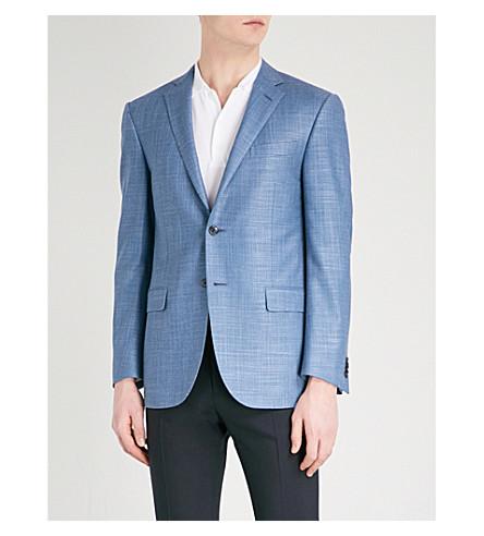 CORNELIANI Regular-fit wool-blend jacket (Blue