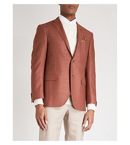 CORNELIANI Regular-fit wool-blend jacket (Burnt+orange