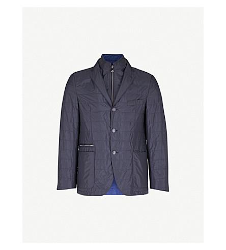CORNELIANI Detachable-collar shell jacket (Navy