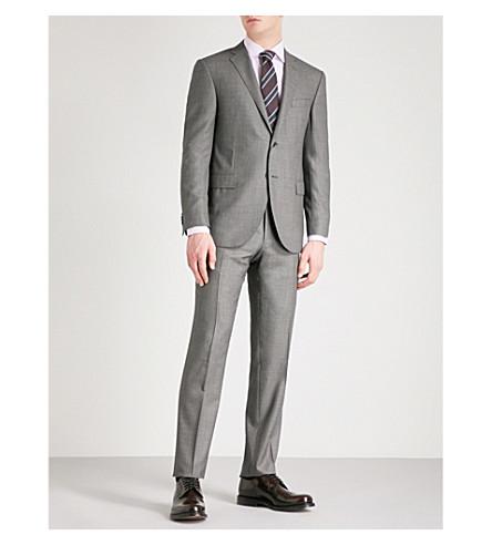 CORNELIANI 鸟瞰-编织学院-适合羊毛套装 (灰色