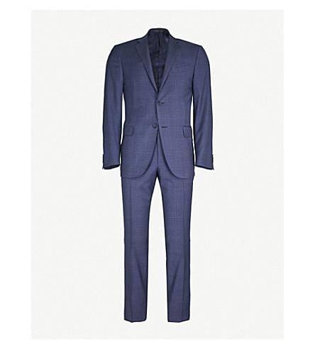 CORNELIANI Regular-fit checked wool suit (Blue