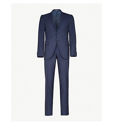 CORNELIANI Dogstooth academy-fit wool suit (Blue