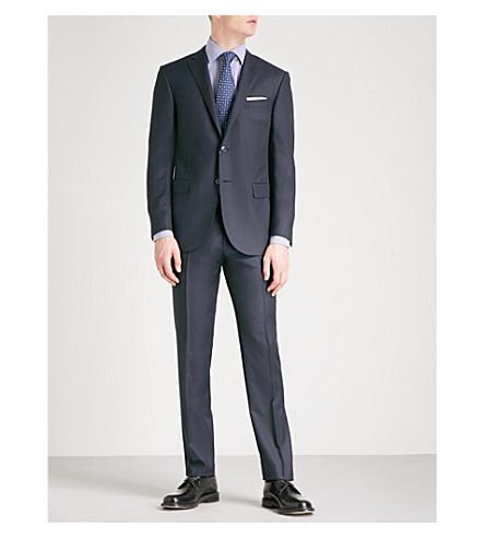 CORNELIANI Birdseye-weave Academy-fit wool suit (Blue