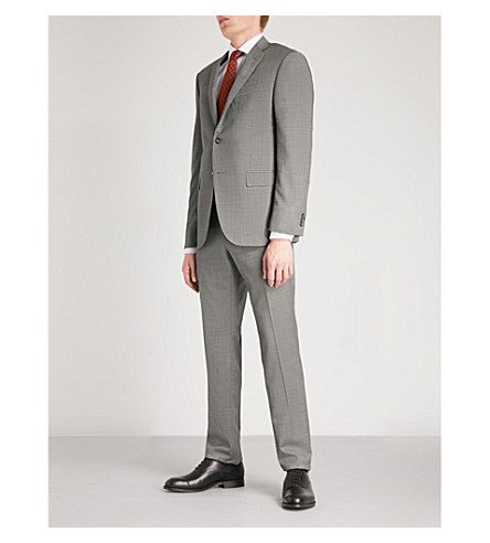 CORNELIANI Pinhead-weave Academy-fit wool suit (Grey