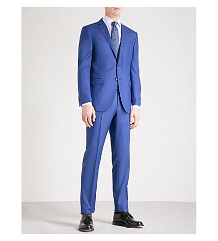CORNELIANI 斜纹编织书院-适合羊毛套装 (蓝色