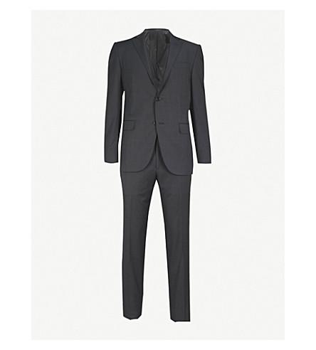 CORNELIANI Pinhead academy-fit wool suit (Charcoal