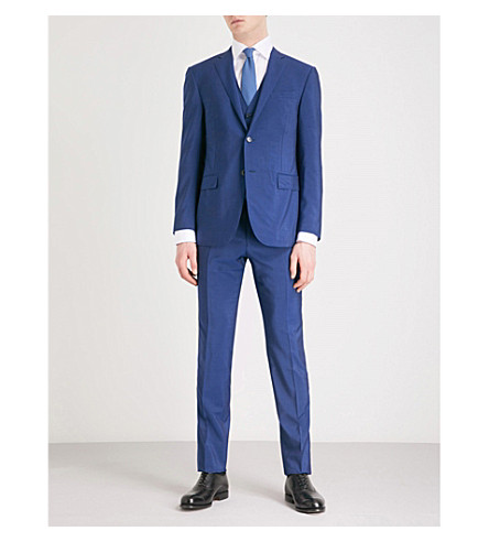CORNELIANI Academy-fit wool and mohair-blend suit (Blue