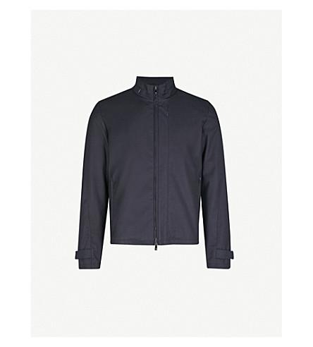 CORNELIANI Stand-collar shell bomber jacket (Navy