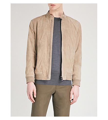 CORNELIANI ID suede bomber jacket (Beige