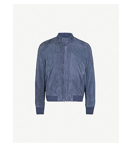 CORNELIANI ID suede bomber jacket (Blue