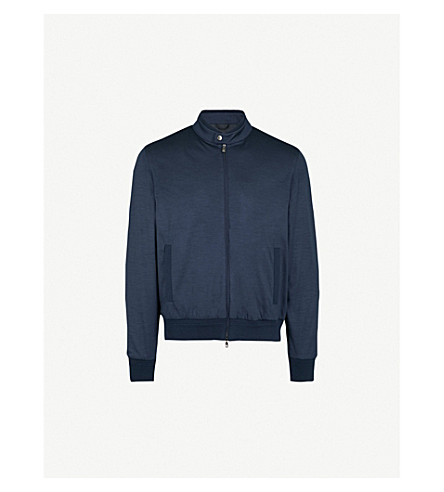 CORNELIANI Foldable wool-jersey jacket (Navy