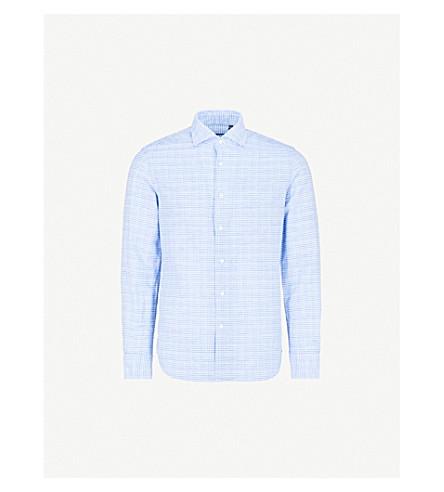 CORNELIANI Slim-fit cotton-blend shirt (Sky+2