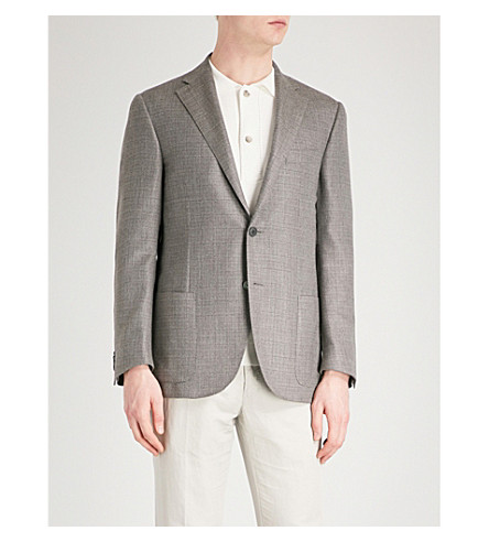 CORNELIANI Regular-fit cashmere-blend jacket (Beige
