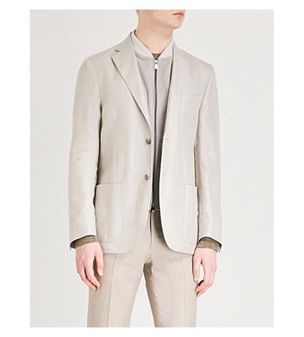 CORNELIANI Regular-fit layered woven jacket (Cream