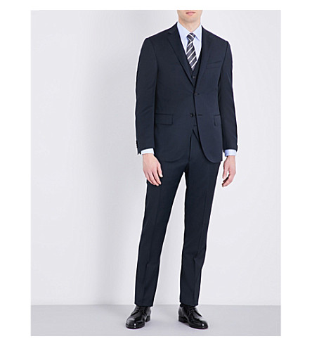 CORNELIANI Nailhead regular-fit wool suit (Navy