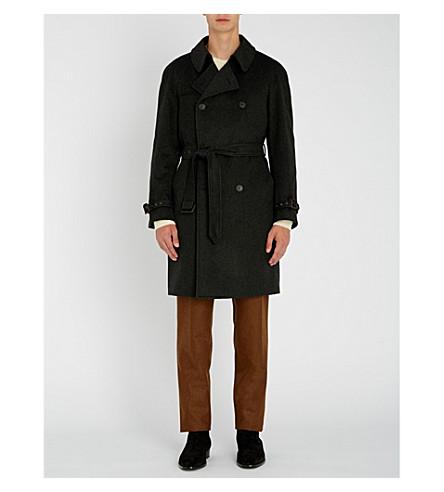 CORNELIANI Double-breasted cashmere trench coat (Grey