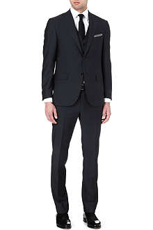 CORNELIANI Single-breasted three-piece wool suit