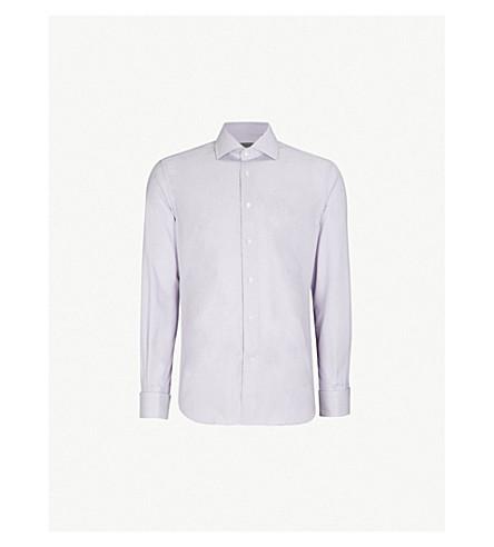 CORNELIANI 常规版型棉衬衫 (丁香花