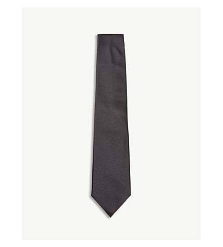 CORNELIANI 夏娃真丝领带 (黑色