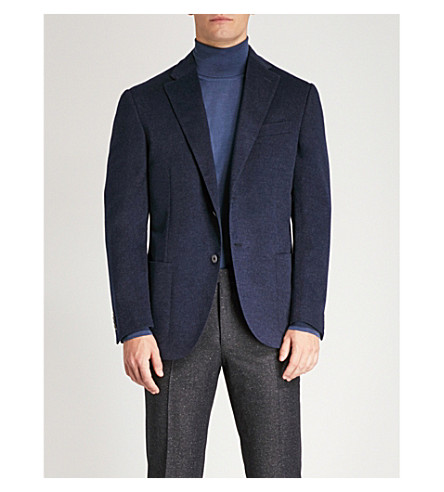 fit jacket cashmere CORNELIANI Tailored Tailored Navy CORNELIANI qPnzvP0