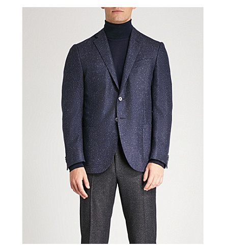 CORNELIANI Academy-fit wool and silk-blend jacket Blue Enjoy For Sale Newest Sale Online Cheapest Sale Online Footlocker For Sale V08Jknj
