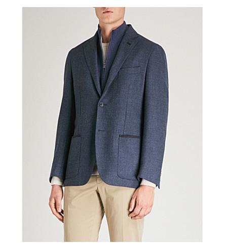 de Chaqueta de traje regular medio lana CORNELIANI azul Fvdq5wF
