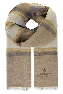 CORNELIANI Spread check scarf