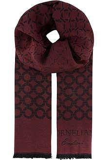 CORNELIANI Mixed ring scarf