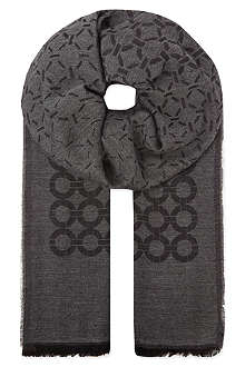 CORNELIANI Mixed ring scarf