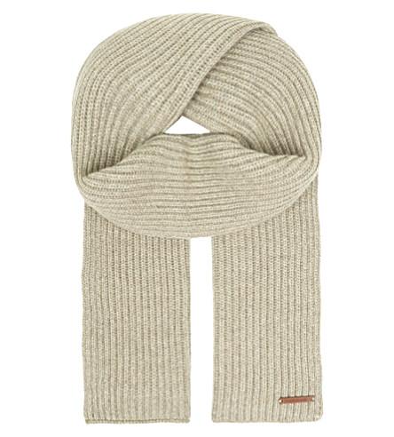 CORNELIANI Ribbed cashmere scarf (Beige